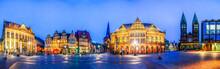 Panorama, Marktplatz Und Ratha...