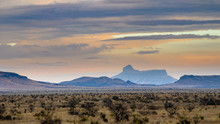 Cathedral Mountain In The Texas Desert