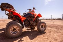 Dirt Bike In Desert