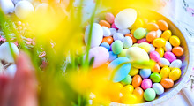 Colored Chocolate Eggs For Eas...
