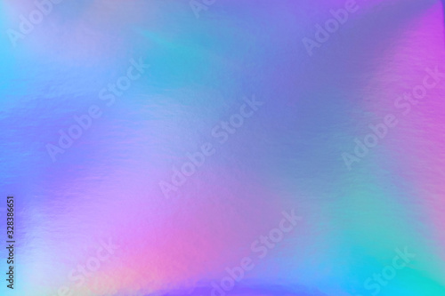 Fotografia Abstract trendy rainbow holographic background in 80s style