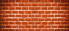 Red Orange Rustic Brick Wall Texture Background Banner
