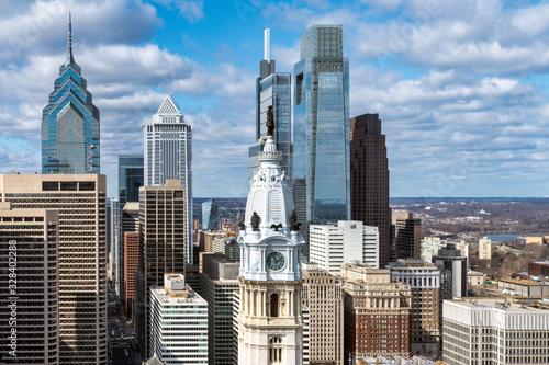 Philadelphia city skyline Wallpaper Mural