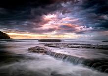 Tamarama Beach At Sunset, Sydn...