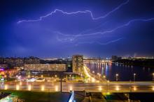Lightning Strikes In The City ...