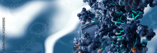 3D rendering of digital technology concept ready for banner background Canvas Print
