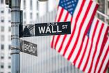 Fototapeta Nowy Jork - Wall Street in New York City