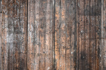 Rough Old Wooden Background Wall