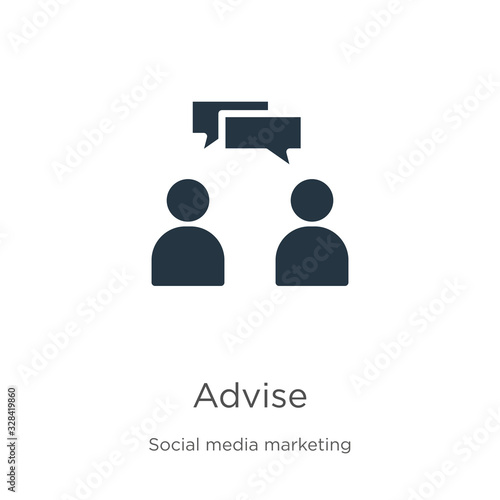 Advise icon vector Wallpaper Mural