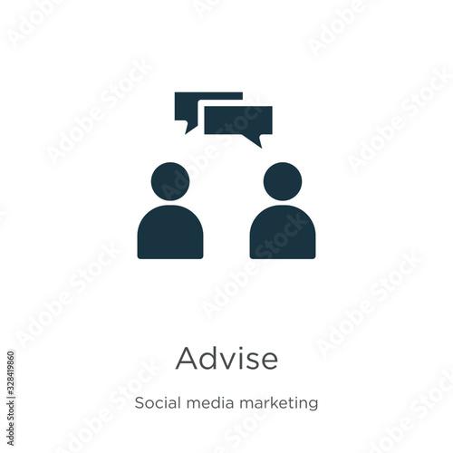Photo Advise icon vector