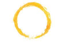 Orange Juice Liquid Splash Cir...