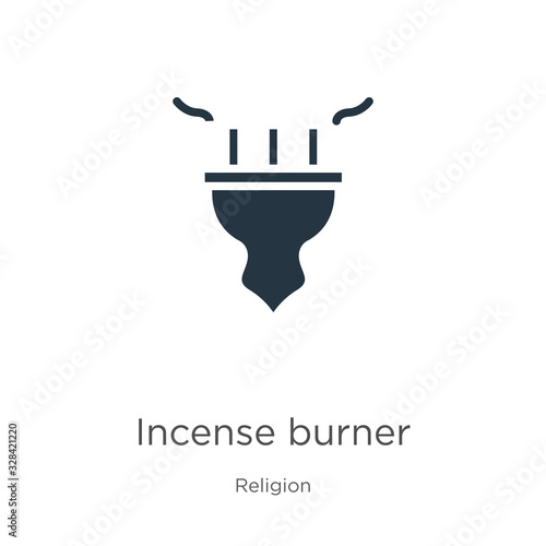 Fotografija Incense burner icon vector