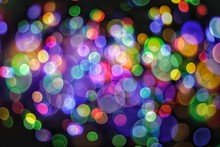 Abstract Light Muti Color Bokeh Background