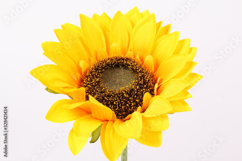 Artificial sunflower isolated on white background