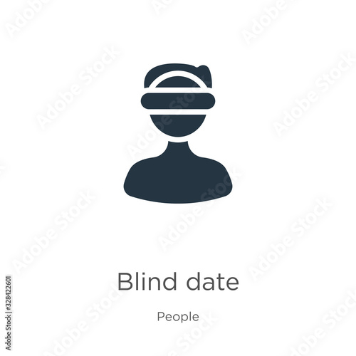 Blind date icon vector Wallpaper Mural