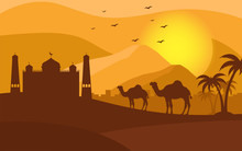 Background Camel Vector - Silh...