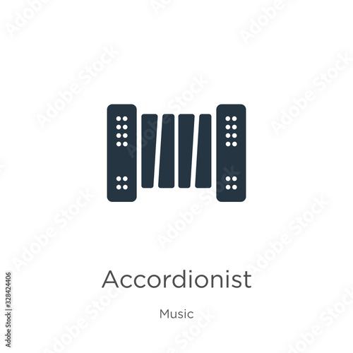 Photo Accordionist icon vector