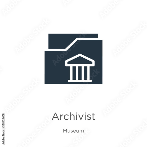 Archivist icon vector Wallpaper Mural