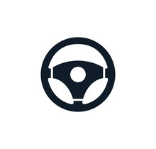 Steering Wheel Icon Vector Logo Design Template