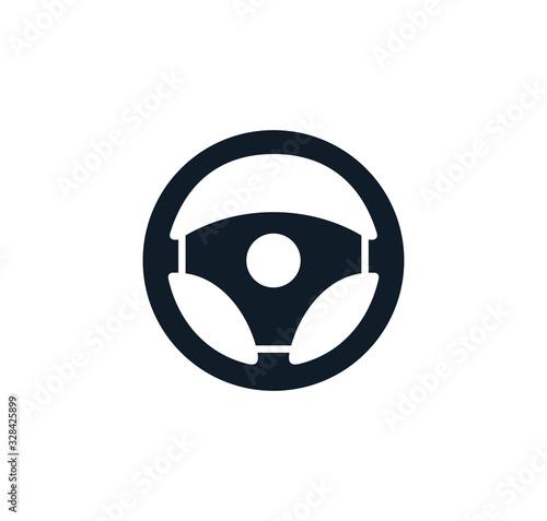 Vászonkép Steering wheel icon vector logo design template