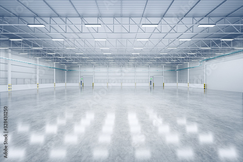 Fototapeta 3d warehouse and floor obraz