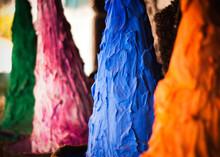 Colored Pigments At A Market I...
