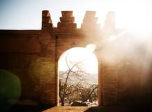 Entrance To The Medina In Chefchaouen, Atlas Mountains, Morocco