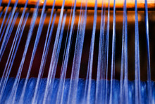 Detail Of Blue Thread Being Wo...