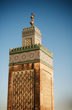 Old Mosque Tower In Fes, Morocco