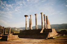 Ancient Roman Ruins At An Arch...