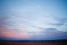 Sahara Desert Landscape At Sun...
