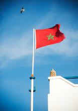 Flag Of Morocco, Essaouira, Mo...