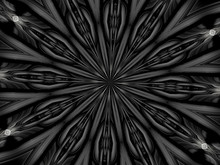 Kaleidoscope In Black And White