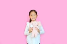 Pretty Asian Little Child Girl...