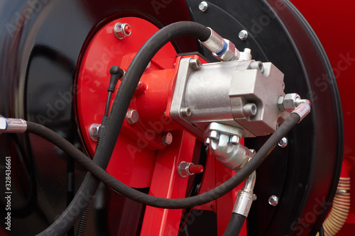 Photo Hydraulic motor..Modern agricultural machinery.