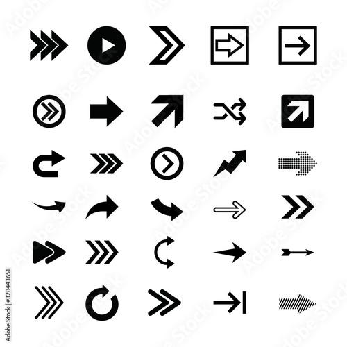 Fototapeta Arrow icons set. Vector illustration obraz na płótnie