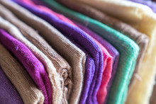 Colorful Fabrics Made Of Pure ...