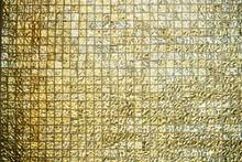 Abstract Texture Of Golden Til...