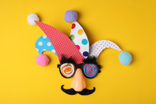 Funny Face Made Of Party Items...
