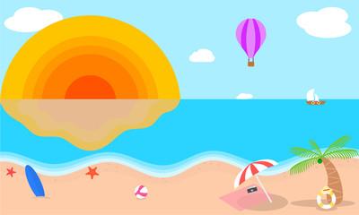 Fototapeta na wymiar summer beach background
