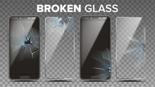Broken Glass Phone Screen Prot...