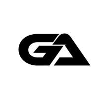 Initial 2 Letter Logo Modern Simple Black GA