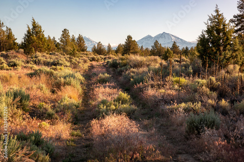 Sunset on the Three Sisters in Oregon Tablou Canvas