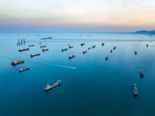 Aerial View From Drone, Oil Ta...