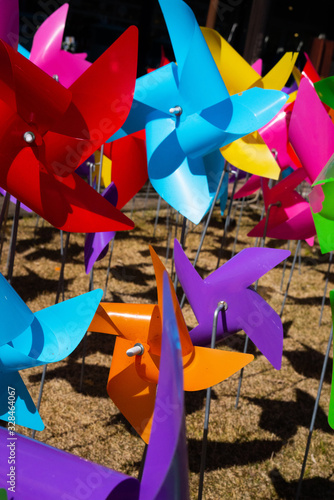 Valokuvatapetti おもちゃの風車