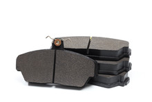 Brake Pads Isolated On White Baclkground.