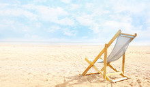 Deck Chair On Beach Send Empty...
