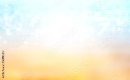 Summer time blurred beach background,sand and sea defocused backdrop Canvas Print