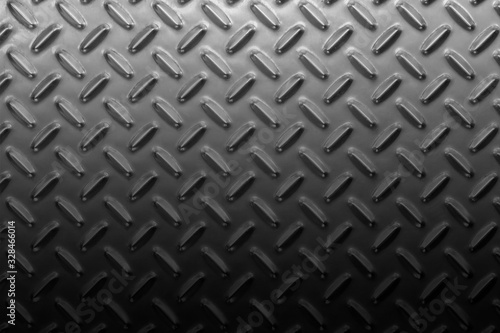 Metall floor plate. Anti slip diamond plate. Wallpaper Mural