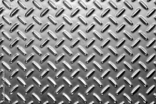 Photo Metall floor plate. Anti slip diamond plate.